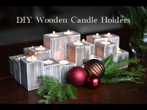 How to Make DIY Wooden Candle Holders