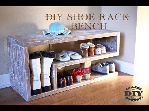 How to build a DIY Entryway Shoe Rack Bench
