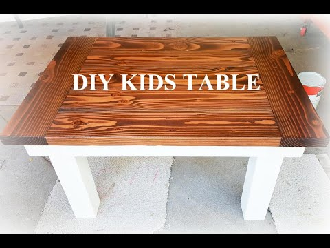 How to Build a Simple DIY Kids Table