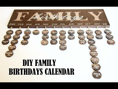How to Make A DIY Family Birthday Calendar Board