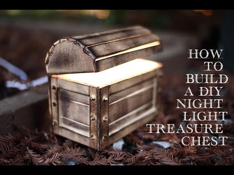 How to build a DIY Glowing Night Light Treasure Chest