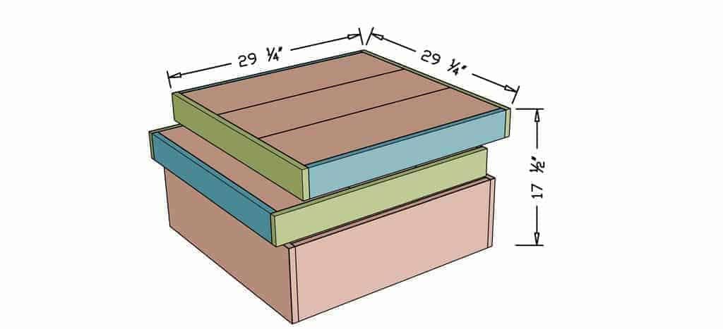 DIY Square Coffee Table dimensions