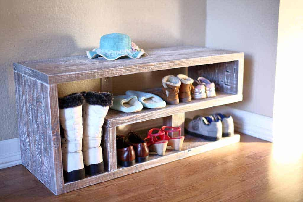DIY Shoe Rack Bench