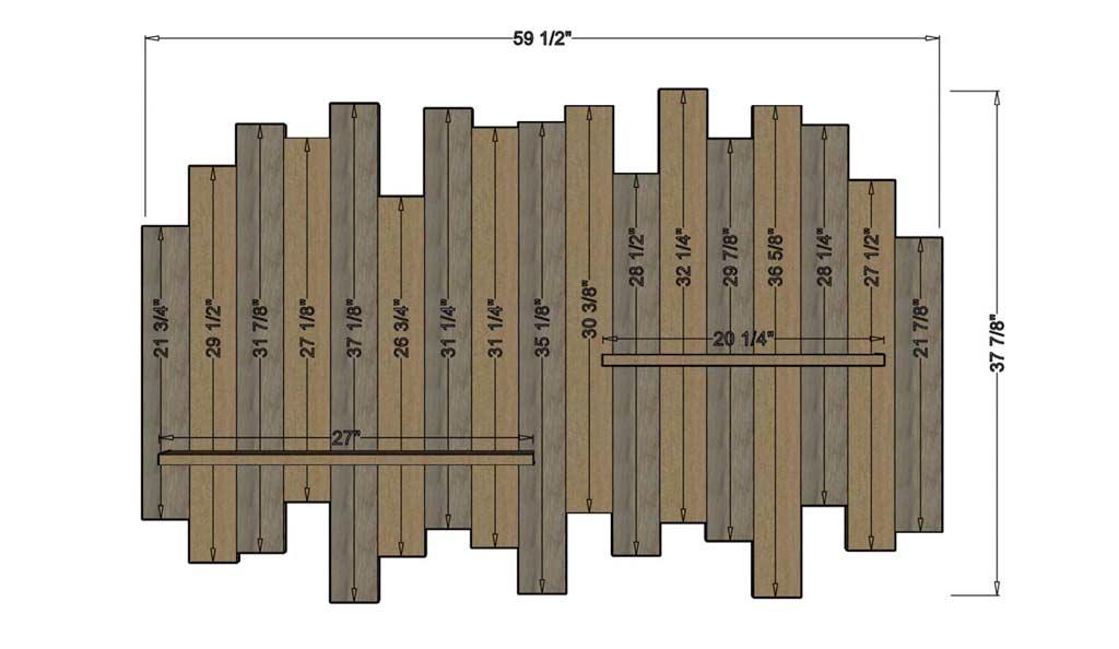 DIY wall decor with shelf dimensions