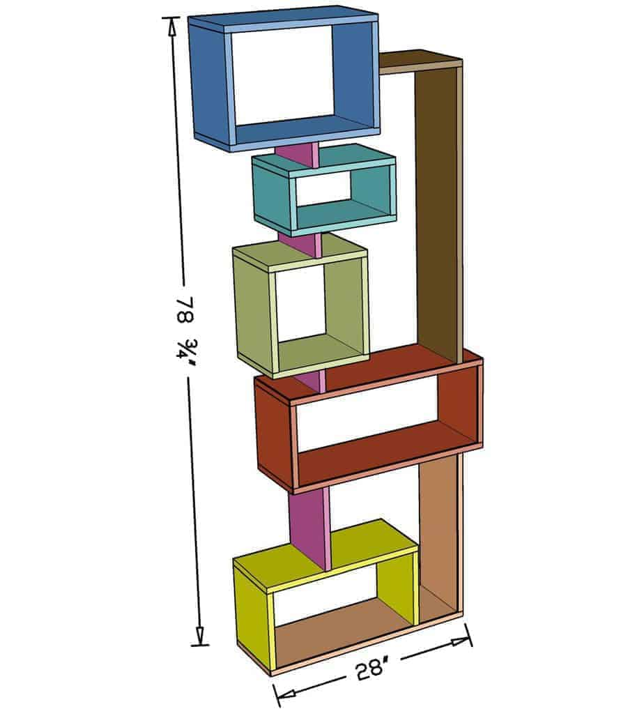 Offsetting DIY Bookshelf Dimensions