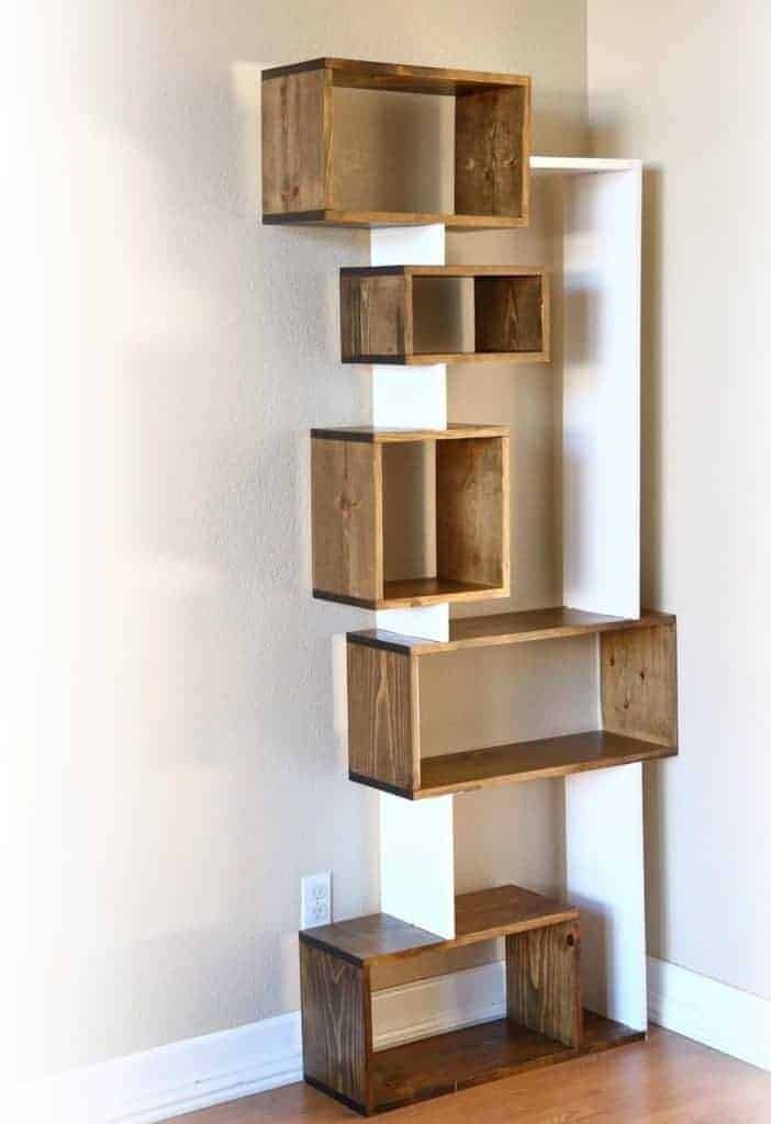 DIY Offsetting Bookshelf