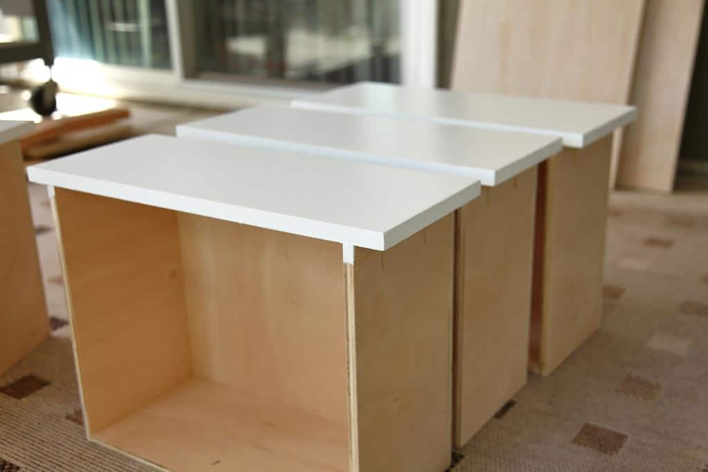 paint drawers for DIY Closet Organizer with Drawers