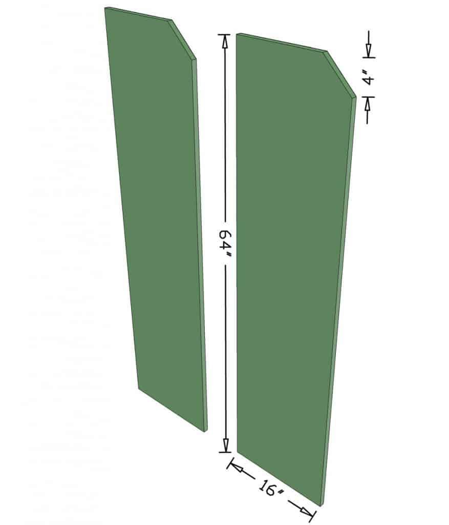 side boards for DIY closet organizer