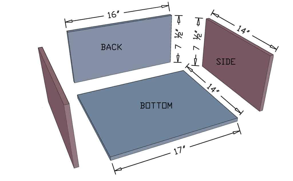 drawer box dimensions