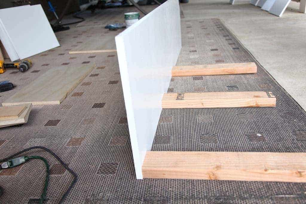 attach 2x4 to sideboards