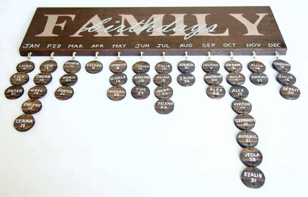 DIY Family Calendar Board