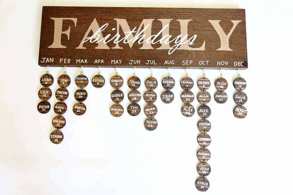 DIY Family Calendar Board