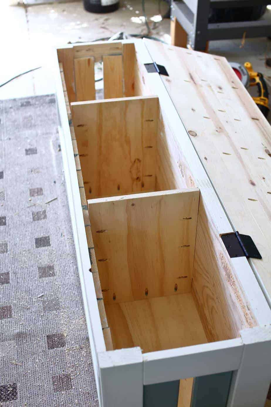 How To Build A Diy Corner Storage Bench Thediyplan