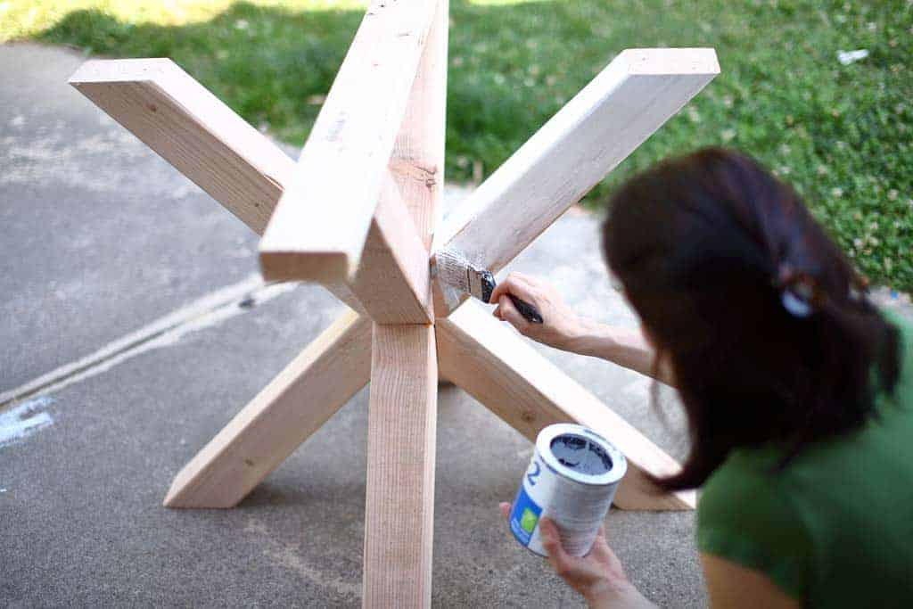 DIY Dining Table leg supports