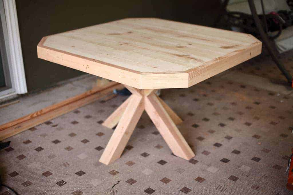 attach legs to table top