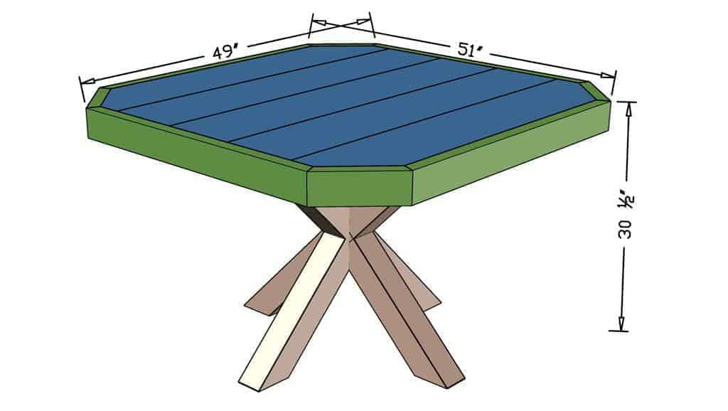 DIY Dining Table  dimensions