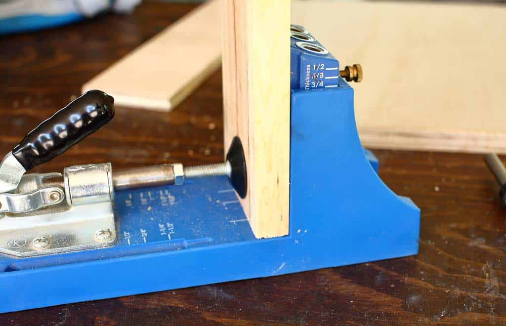 clamp wood in kreg jig