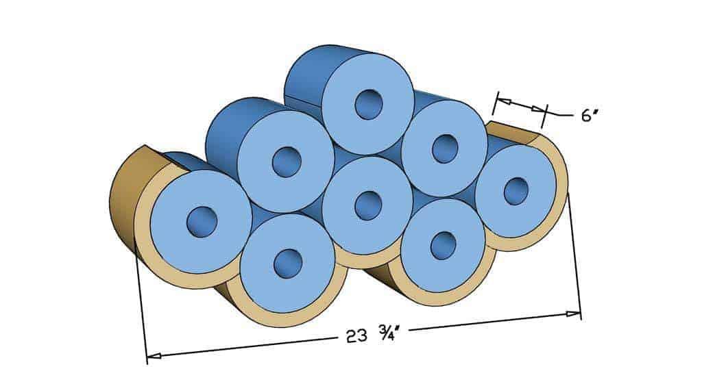 DIY Cloud Toilet Paper Storage dimensions