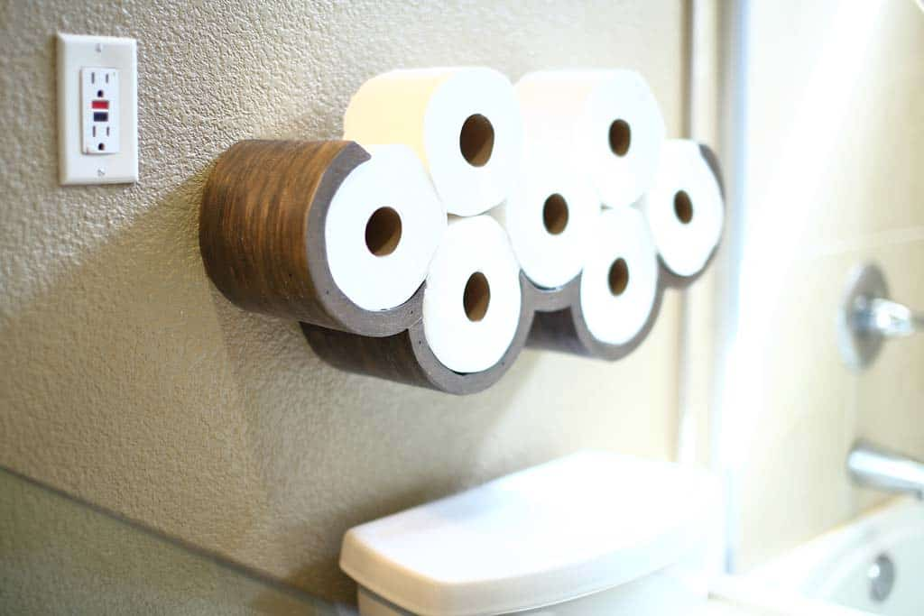 DIY Cloud Toilet Paper Storage