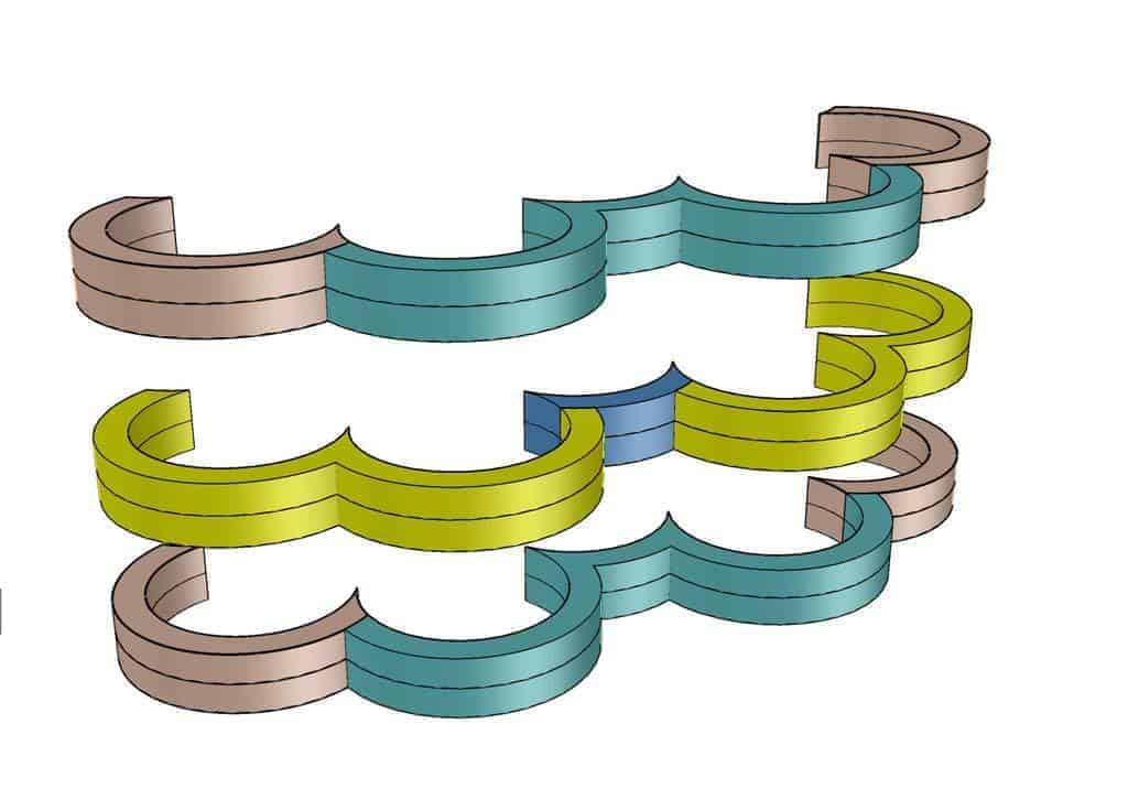 DIY Cloud Toilet Paper Storage layers