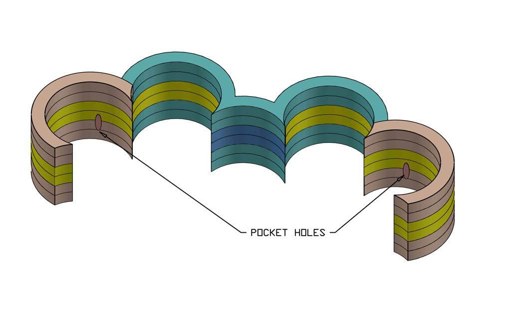 pocket holes on the DIY Cloud Toilet Paper Storage
