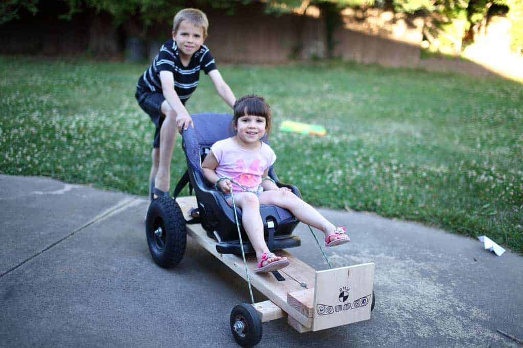 DIY Wood Go-Kart with Car Seat - TheDIYPlan