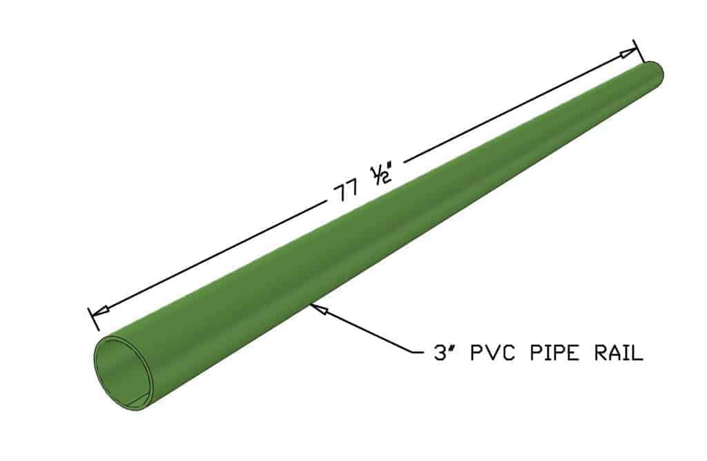 cutting top and bottom rails for DIY PVC Pipe Patio Railing