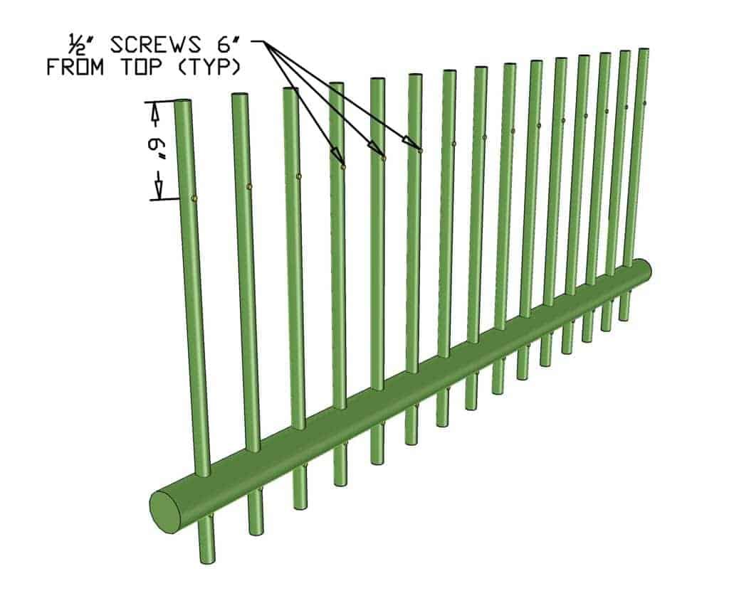 pvc pickets for DIY PVC Pipe Patio Railing