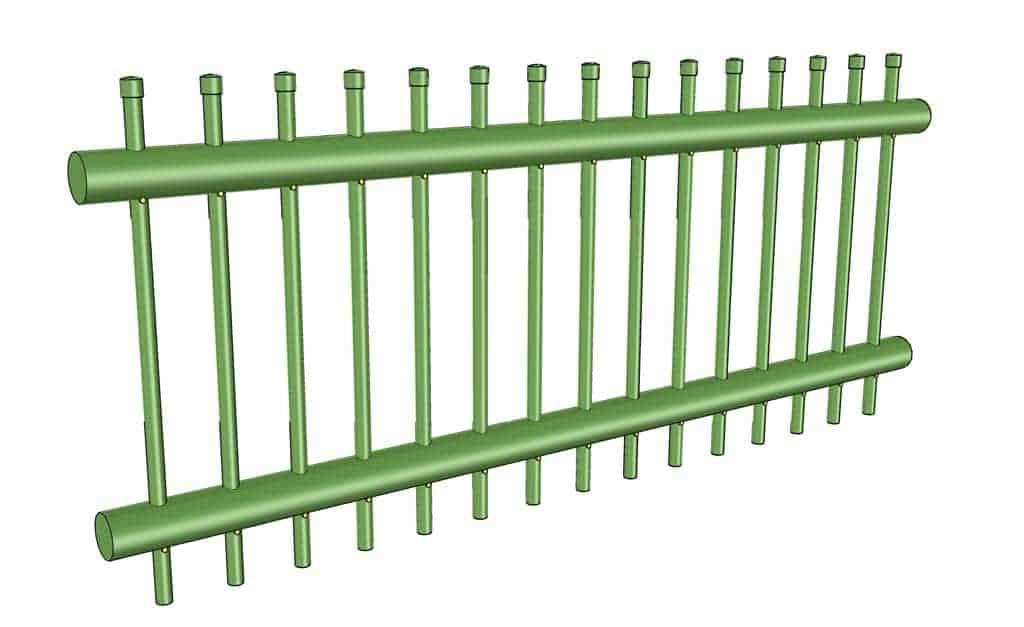 DIY PVC Pipe Patio Railing
