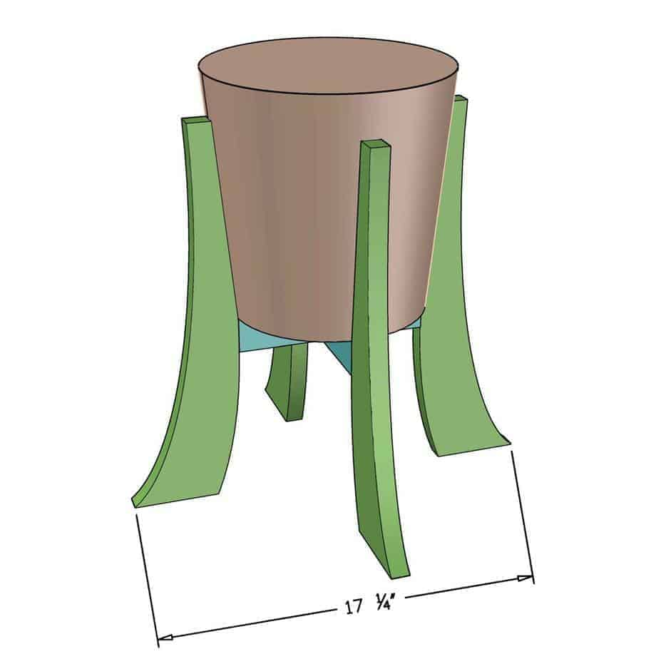 DIY Indoor Plant Stand dimensions