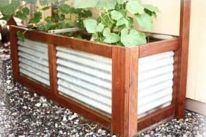 DIY Planter Container with corrugates steel