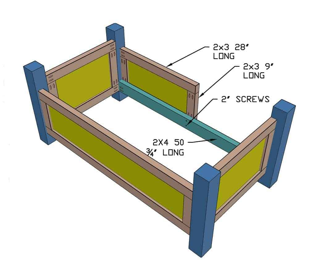 installing front toddler bed panel