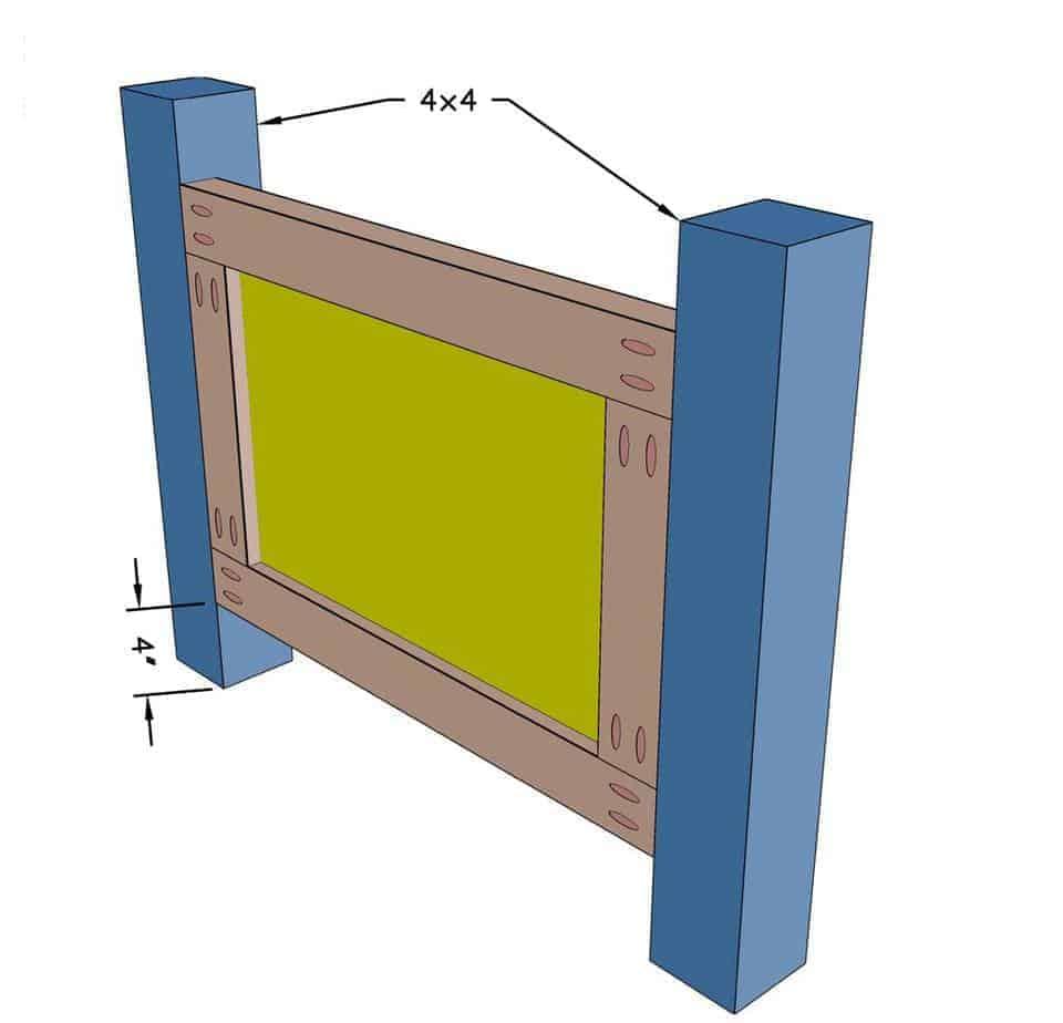 headboard panel for DIY Toddler Bed