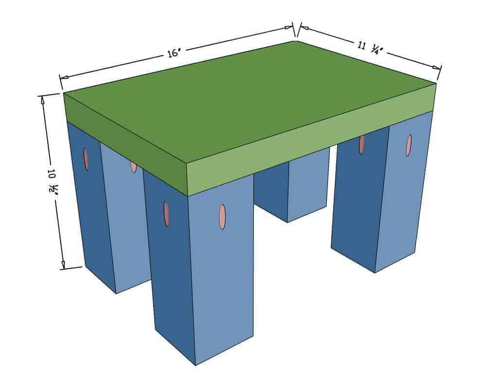 diy step stool for kids dimensions