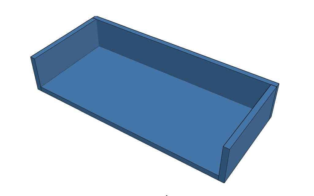 box for floating shelf