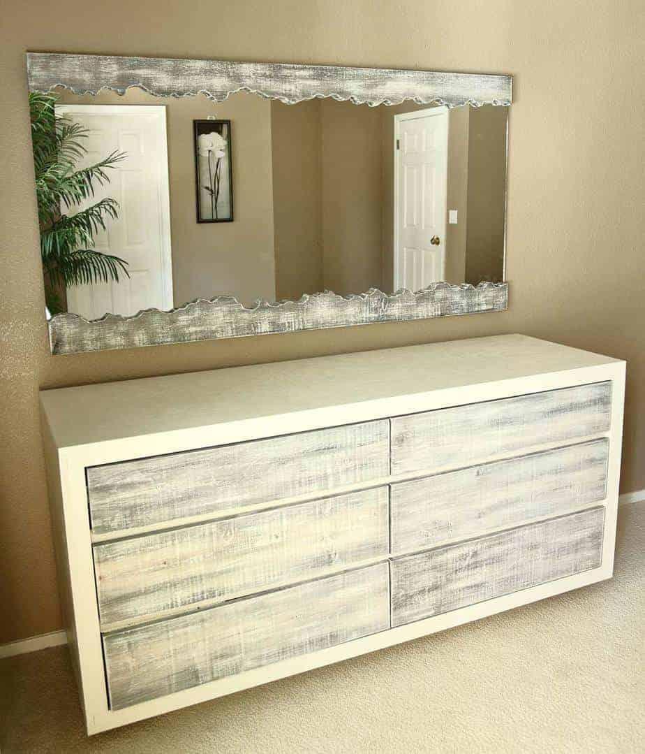 DIY Live Edge Mirror and dresser