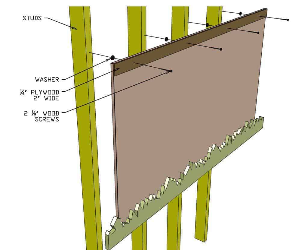 attaching backboard of the DIY Live Edge Mirror