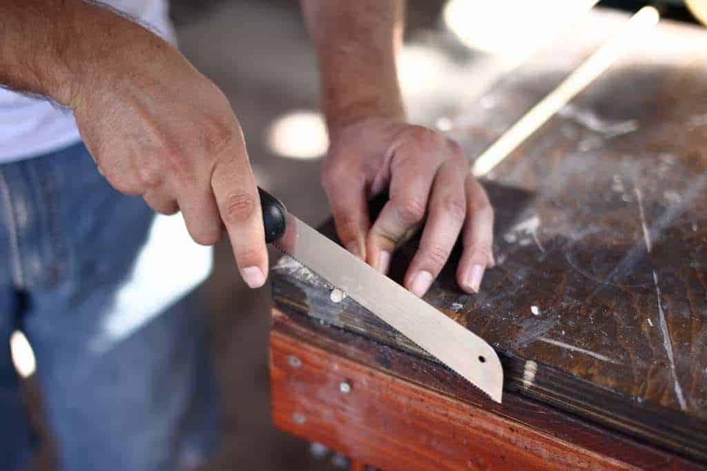 cutting off dowel tips
