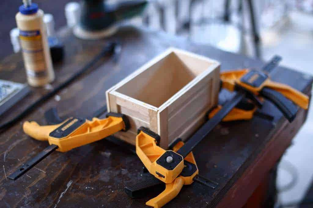 clamping treasure chest panels together