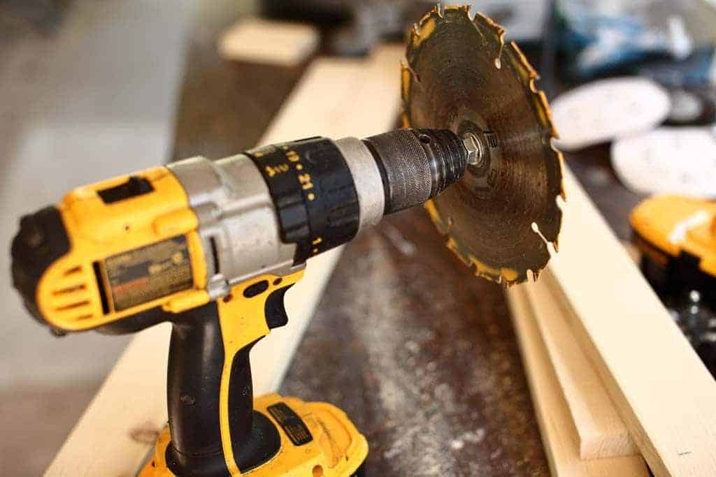 drill with a skill saw