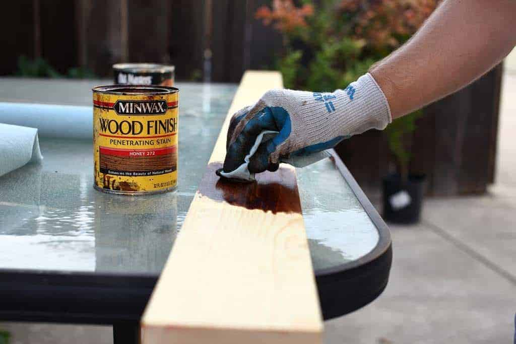 staining wood for growth ruler