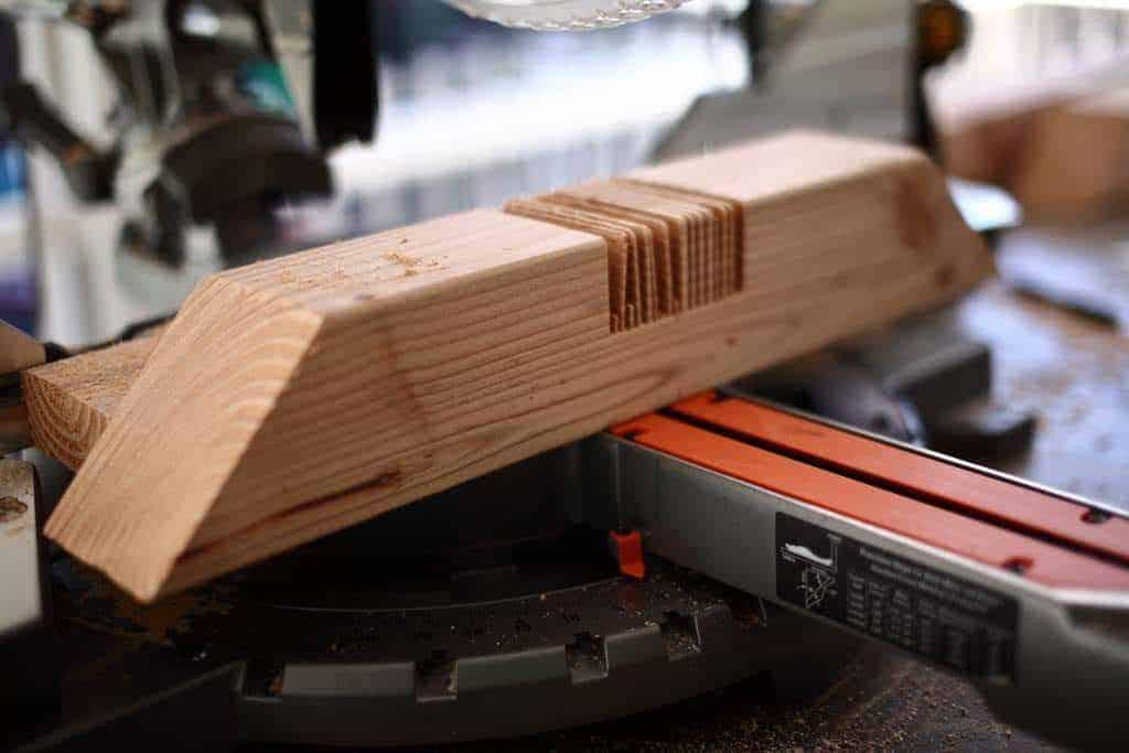 cut wood for notch