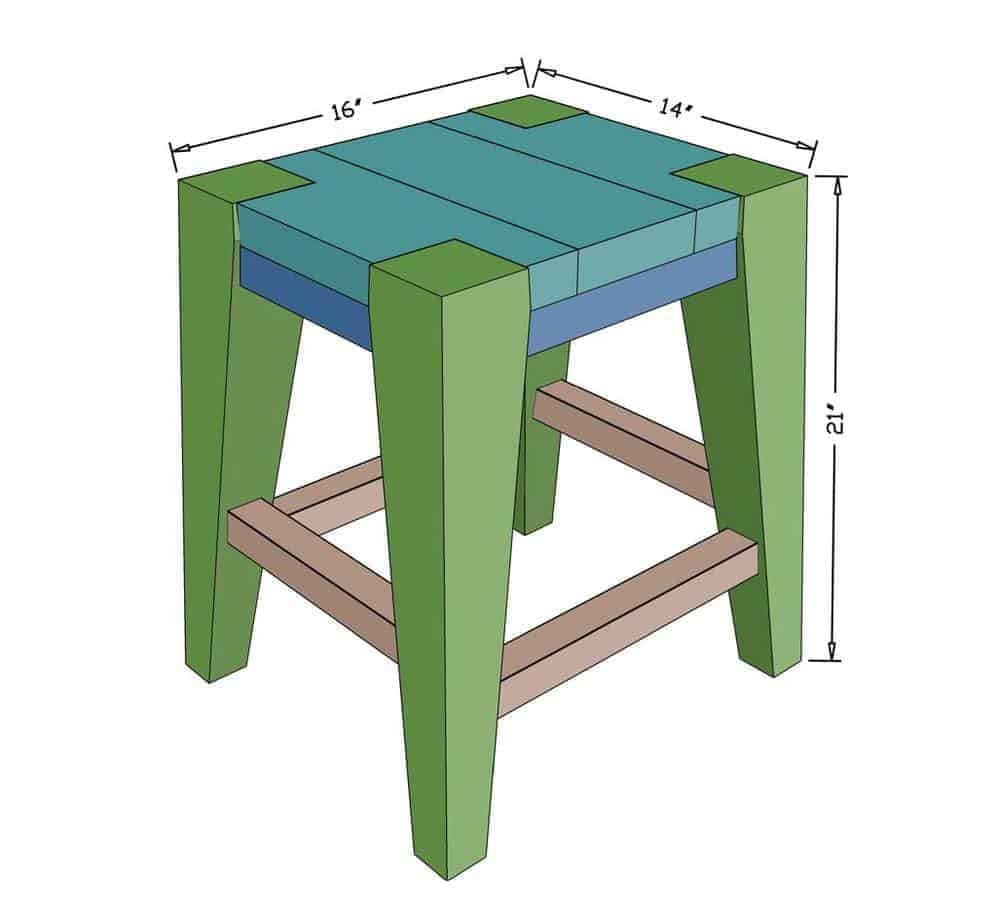 Enjoyable How To Build A Diy Wooden Bar Stool Thediyplan Short Links Chair Design For Home Short Linksinfo