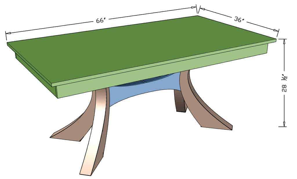 DIY Kitchen Table with Epoxy  dimensions