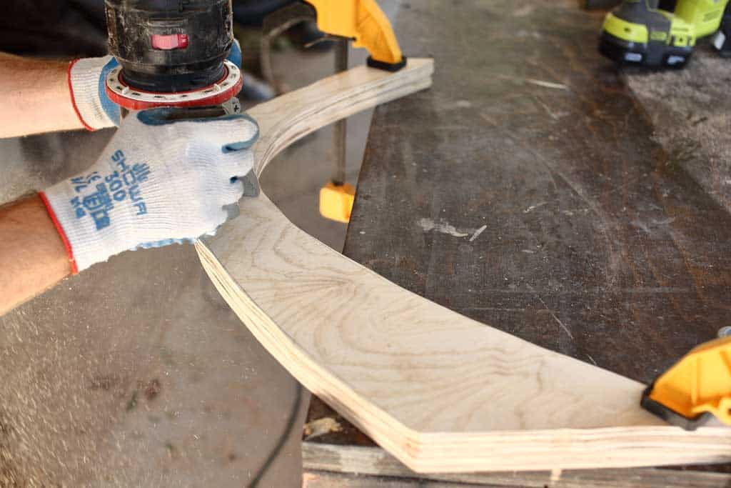 using wood router to cut legs