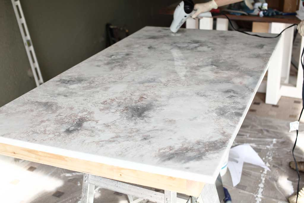 adding epoxy over table top