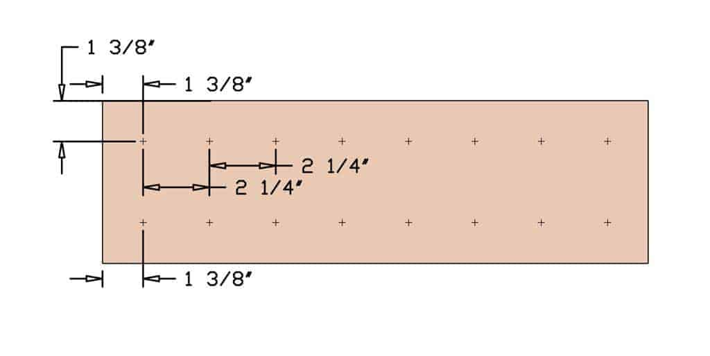 measurement for DIY Mancala Board Game