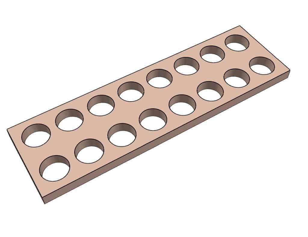 drill hole for DIY Mancala Board Game