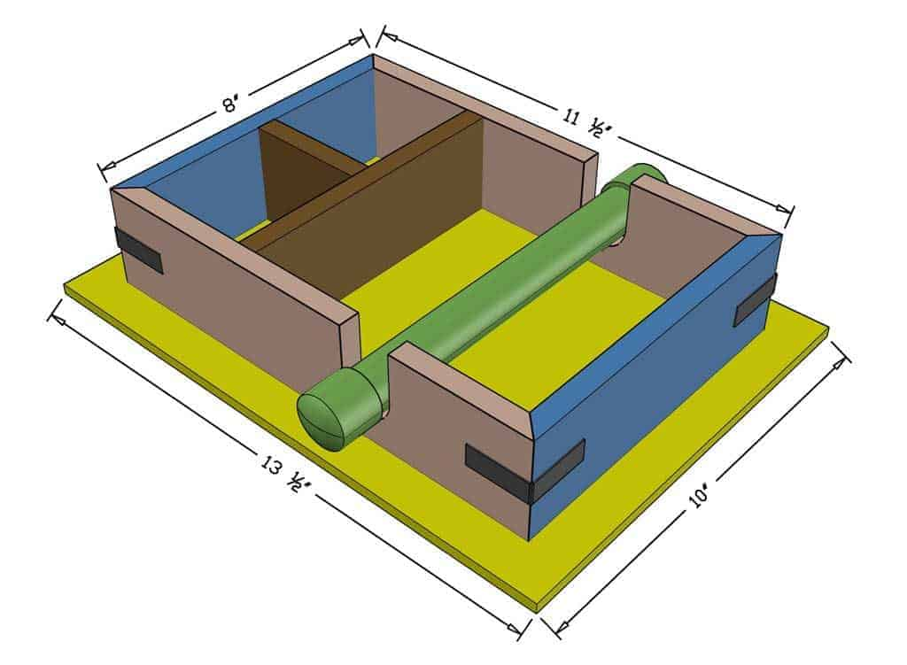 DIY Napkin Holder dimensions