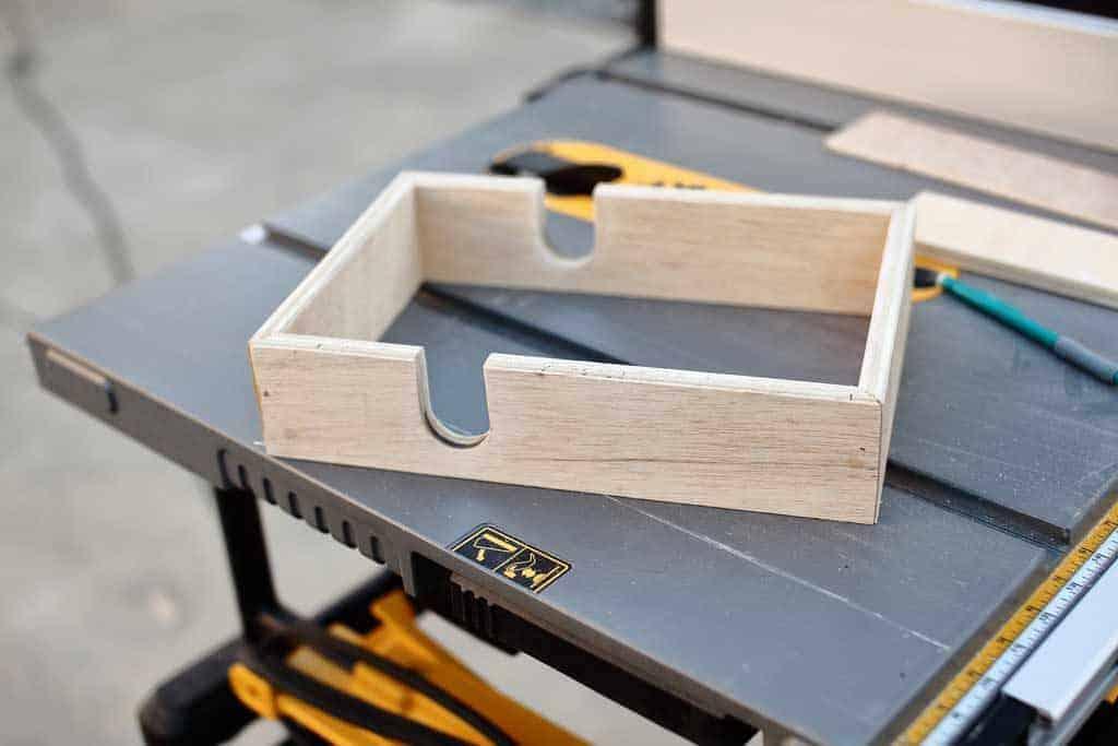 glue side together for DIY Napkin Holder